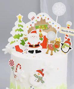 Kerst taart vlag