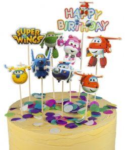 Super wings taart vlag