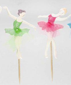 Ballet - Ballerina cupcake prikkers